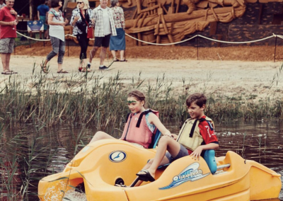 Pedal boats at ANIMALIA IN SAND